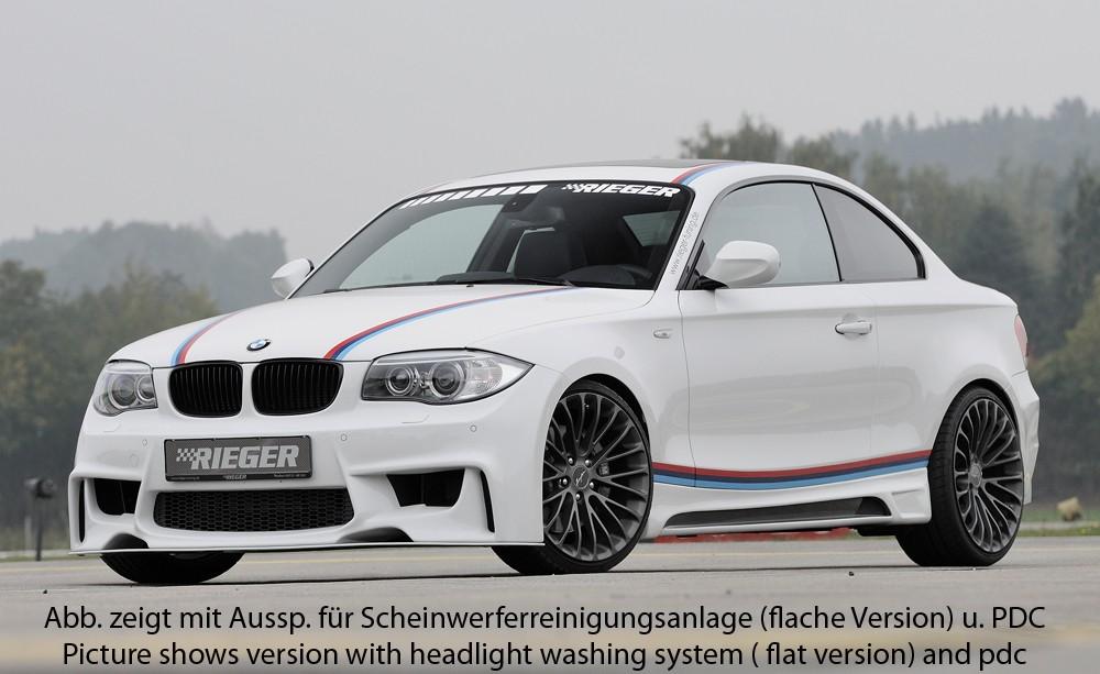 Rieger front bumper BMW 1-series E81 (187/1K2/1K4)