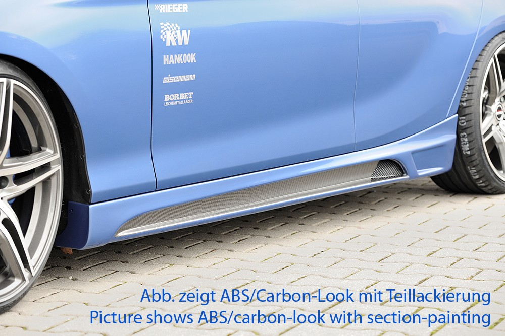 Rieger side skirt BMW 1-series F20  (1K4)