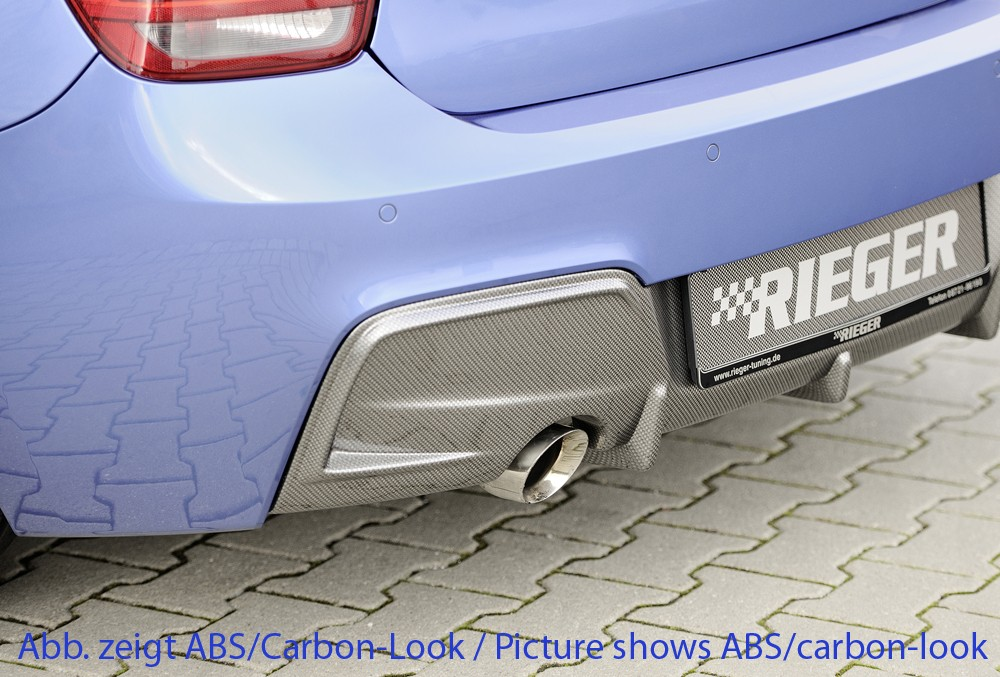 Rieger rear skirt insert BMW 1-series F20  (1K4)