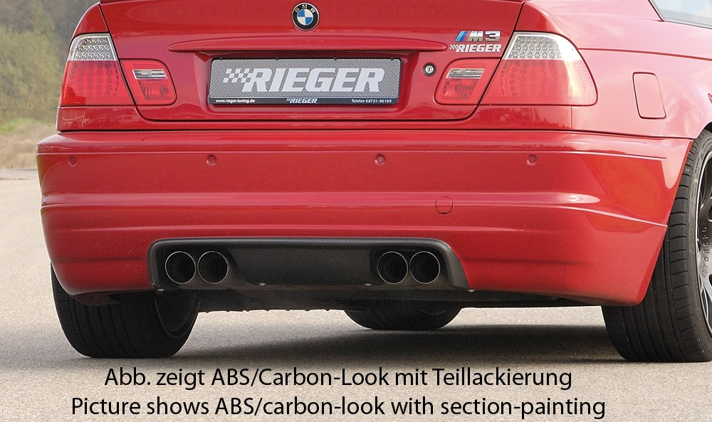 Rieger rear skirt extension BMW 3-series E46 M3
