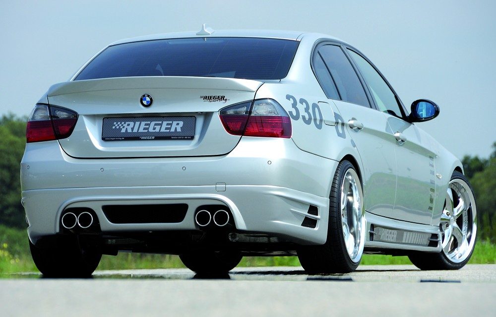 Rieger rear skirt extension 335i-look BMW 3-series E91