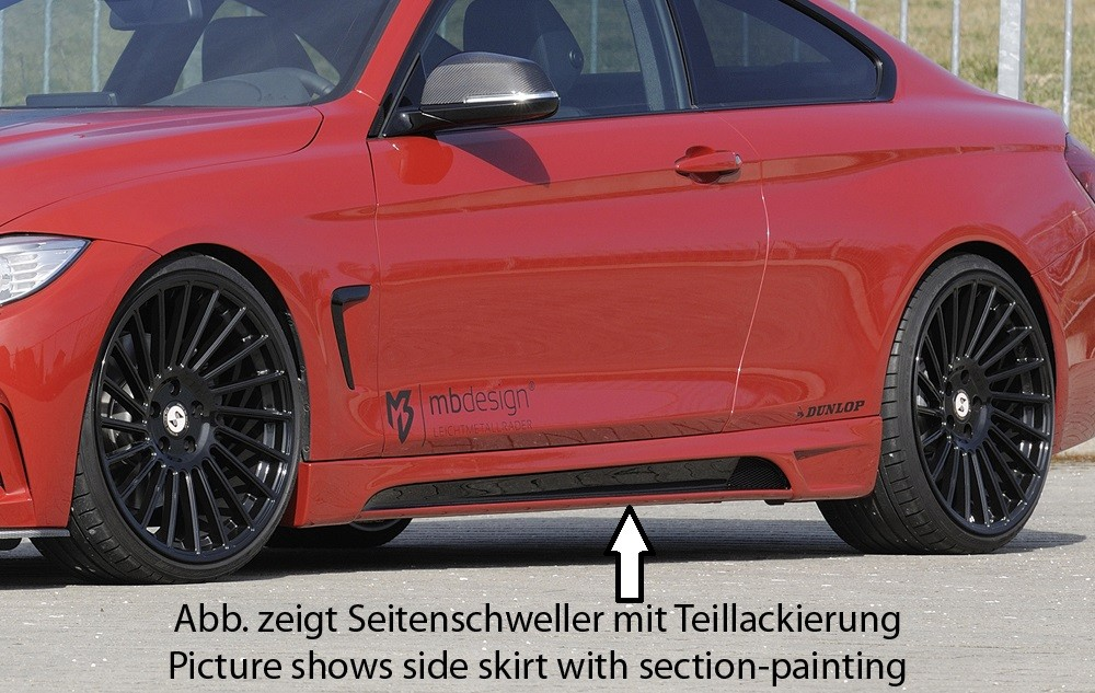 Rieger side skirt BMW 4-series F32  (3C)