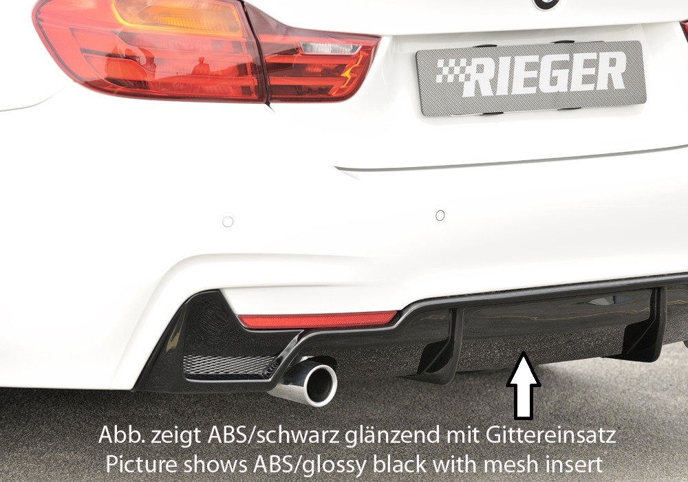 Rieger rear skirt insert BMW 4-series F32  (3C)