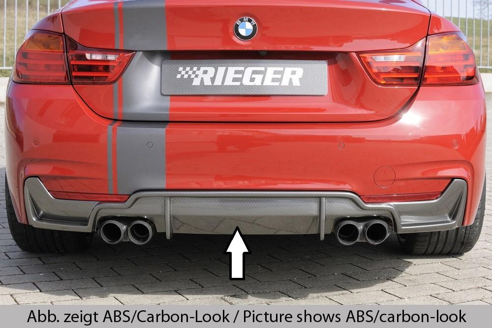 Rieger rear skirt insert BMW 4-series F33  (3C)