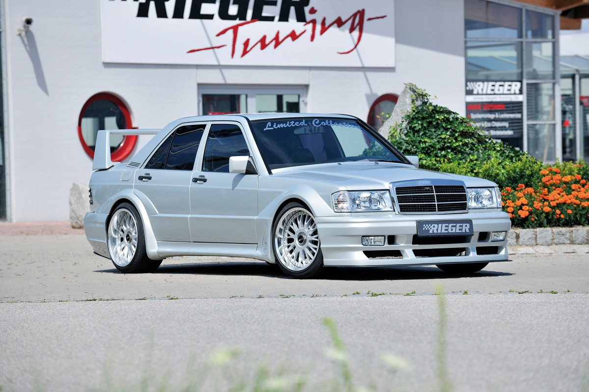 Rieger side panel widebodykit Mercedes 190 (W201)