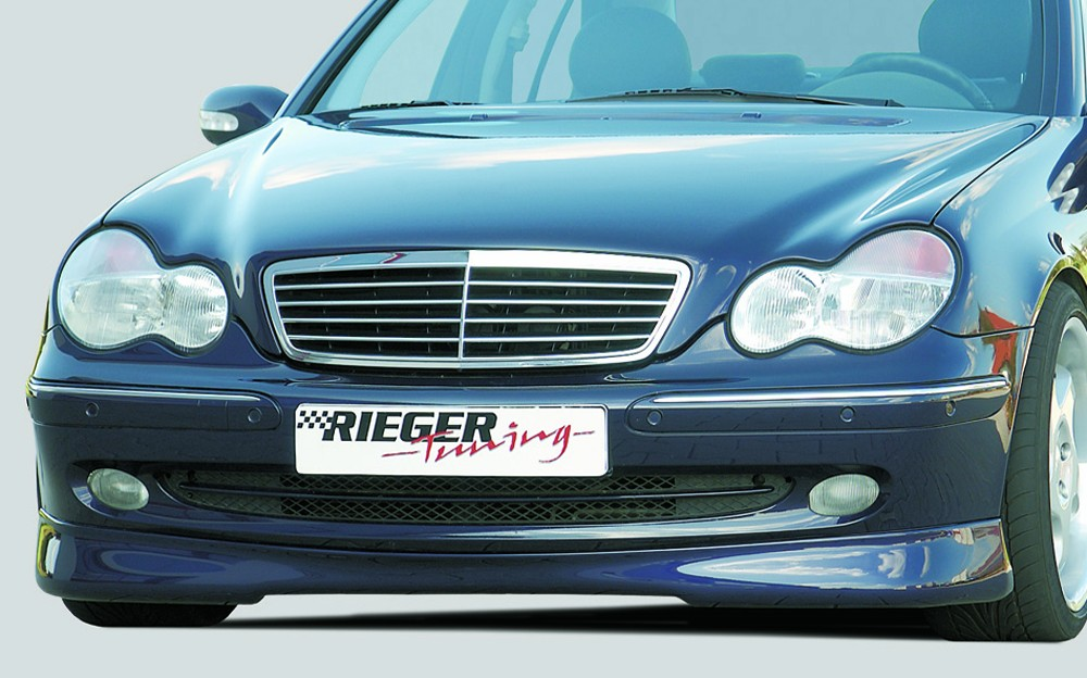 Rieger front spoiler lip for Avantgarde Mercedes C-Class (W203)