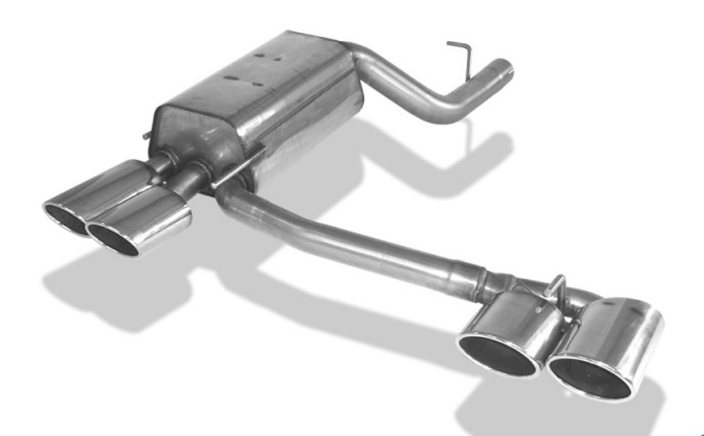 Rieger exhaust silencer, right, left, for RIEGER r Mercedes CLK (W209)