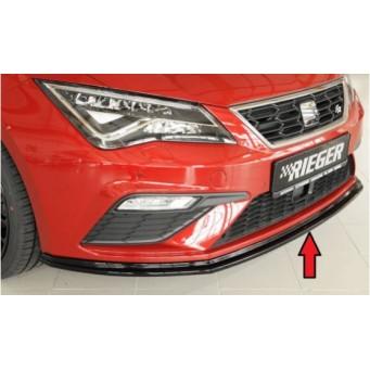 Lip delantero negro brillo Seat Leon Cupra (5F)