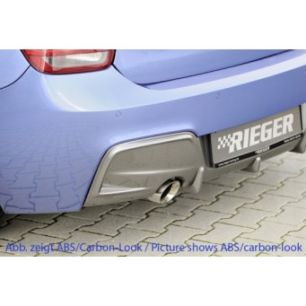 Rieger rear skirt insert BMW 1-series F20  (1K4)