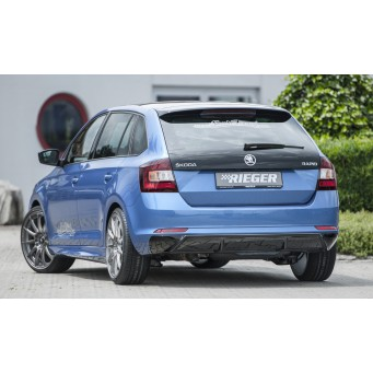 Rieger rear skirt insert Skoda Rapid (NH)
