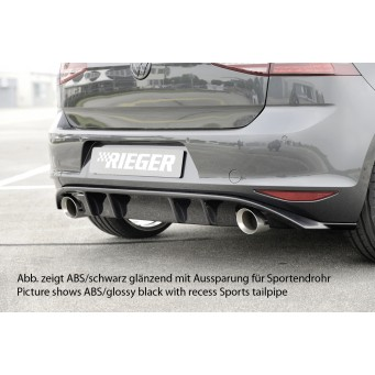 Rieger rear skirt insert VW Golf 7 GTI Clubsport