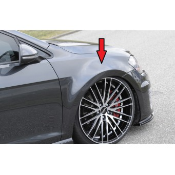 Rieger fender for extremely lowering VW Golf 7 R