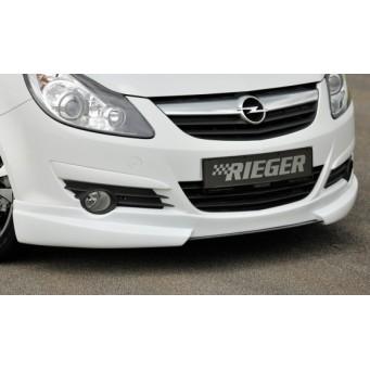 Rieger front spoiler lip Opel Corsa D