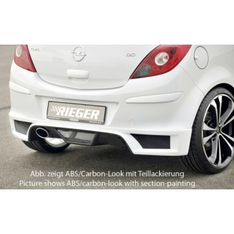 Rieger rear skirt extension Opel Corsa D