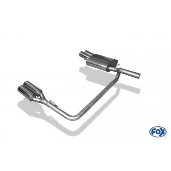 Rieger exhaust silencer, le./ri., VW Passat (3C) VW Passat (3C)