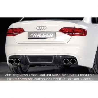 Rieger rear skirt extension Audi A4 (B8/B81)